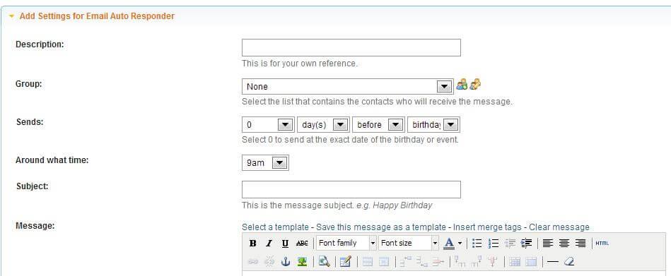 Manage Email Autoresponders