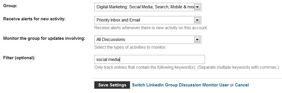 Monitor LinkedIn Group Conversations