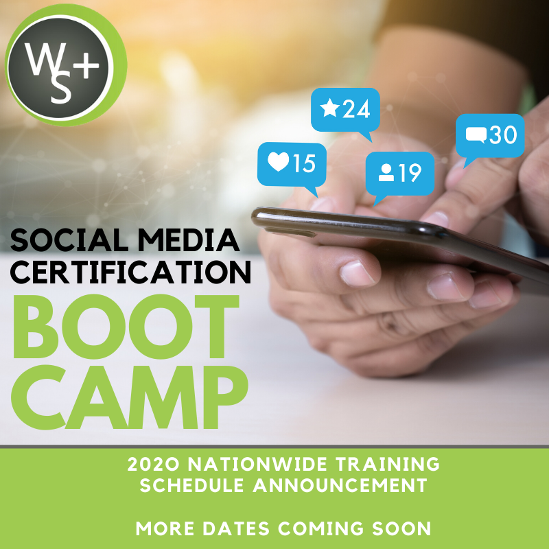 Nationwide 2020 Social Media Management Certification Boot Camp Schedule Announced by CEO, Michelle Hummel, from Web Strategy Plus